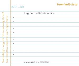 Tennivaló lista (1)